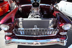 built up (1600 Squirrels) Tags: 1600squirrels photo 5dii lenstagged canon24105f4 classic car automobile show downtownalamedaclassiccarshow parkstreet alameda alamedacounty eastbay sfbayarea nocal california usa 1955 chevrolet belair gm