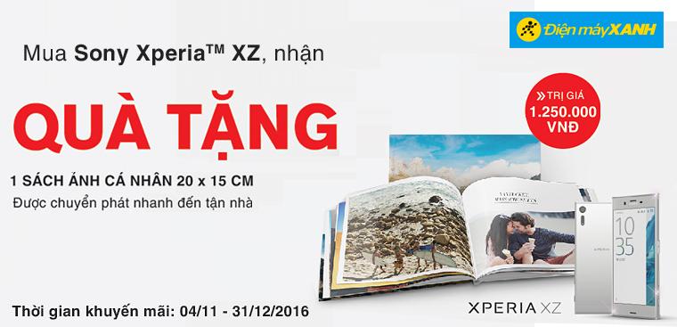 Mua Sony Xperia XZ tặng Photobook hình ảnh của bạn trị giá 1,25 triệu