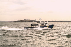 """""""Color of Autumn 2016 In NYC"""" (Patrolling Hudson River Waterfront) (nrhodesphotos(the_eye_of_the_moment)) Tags: dsc0421872 """"theeyeofthemoment21gmailcom"""" """"wwwflickrcomphotostheeyeofthemoment"""" colorofautumn2016innyc autumn season nypd boat patrol hudsonriver ellisisland nypdpatrolboat outdoor metal glass waterfront manhattan nyc policemen security wake nyharbor transportation vehicle skyline architecture"""