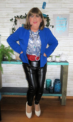 Leather Trousers (Trixy Deans) Tags: crossdresser cd cute crossdressing crossdress classy corset jeans tightjeans tgirl tv transvestite transgendered transsexual trixydeans transvesite tgirls trixy xdresser sexy sexytransvestite sexyheels sexylegs hot highheels