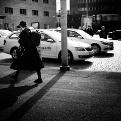 station (s_inagaki) Tags: station taxis tampere finland snap street blackandwhite bnw bw
