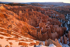 dawn - Inspiration Point - Bryce Canyon - 2-12-16  02 (Tucapel) Tags: brycecanyon nationalpark utah dawn inspirationpoint snow light