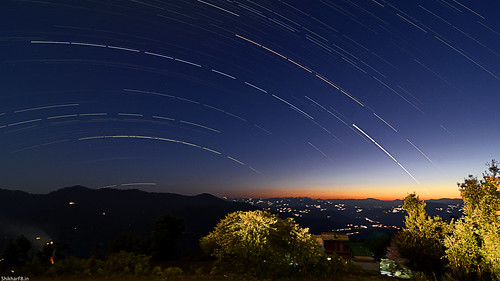 Twilight and startrails