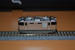 EF 510 Cassiopia B train (Thylacine Modlisme) Tags: bandai japan japon train marque brant pices pice roue chassie caisse  monter cassiopia nuit night car lit bed gray metalic gris mtalis bote box a b c 3 three trois made himself import importation n scale chelle model maquette motor motorisable locomotive locomotiv wagon