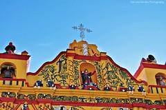 Iglesia San Andres Xecul, Totonicapan - Guatemala (Manzana Morales Photography - saritale56@gmail.com) Tags: church iglesia totonicapn guatemala guatemalancolors guatemalanculture colors colorful sky cielo morning detalles details religion yellow manzanamoralesphotography flickrgt