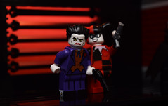 Oh Mistah J! (Andrew Cookston) Tags: lego dc comics dccomics batman thejoker harleyquinn gotham city red black btas brucetimm pauldini timlydy brickarms onlinesailin moc custom minifig stilllife toy macro photography andrewcookston