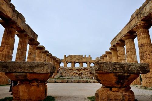 Selinunte (Sicilia-Italia). Templo E o de Hera. Interior