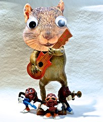 A Bizarre Band (ricko) Tags: band frog squirrelface californiaraisins toys guitars singer horn werehere 333366 2016