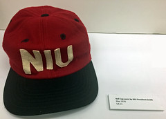 NIU Hat worn by President Smith during protests, May 1970 (Regional History Center & NIU Archives) Tags: boycott demonstration protest niu northernillinoisuniversity students hat activism