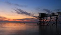 Coucher de soleil sur les Moutiers-en-Retz (HimalAnda) Tags: coucherdesoleil sunset france loireatlantique 44 lesmoutiersenretz couleurs ciel nuages colors sky clouds pêcherie fishery stéphanebon canoneos70d eos70d