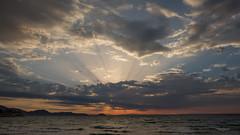 Zakynthos sky ... (Alex Verweij) Tags: afterthestorm sky cloud clouds sunrise zonsopkomst sun zon alexverweij canon 5d holiday vakantie 2016 wolk wolken griekenland greece water sea zee zout bergen strand zonnestralen sunbeams beams