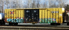 mecro - koyn (timetomakethepasta) Tags: mecro koyn cdc yuthe phone draft sexes freight train graffiti art boxcar ttx tbox benching selkirk new york photography