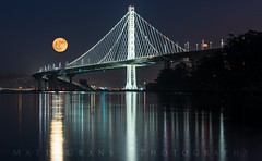 The Super Moonrise (Matt Grans Photography) Tags: oakland sanfrancisco treasureisland supermoon moonrise harvestmoon night fullmoon lights california baybridge