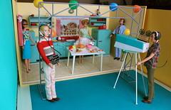 Cooking with Gigi (Retro Mama69) Tags: barbie mattel ken american girl allan diorama tv studio set cooking program thanksgiving vintage tin toy kitchen miniature 116 play food miniatures