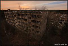 Fallen Town (seb a.k.a. panq) Tags: abandoned town block flats ruins civilization sebastianbakajphotography moonlight longexposure overgrown