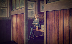 All alone... (Wendy Lipovsek) Tags: arcade drd second life secondlife sl winter train maitreya hilly haalan ikon truth