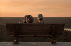 Nice View (happyphotons) Tags:            85           red lake korobitsyno couple cute bench romance height mountains ski resort 85mm helios russia