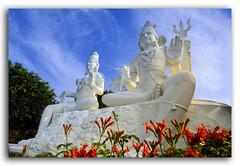 Sculpture of the divine Couple, Parvati and Shiva, on the top of mountain Kailasagiri (KS Photography!) Tags: shiva parvati shivaparvati god goddess hill hinduism kailas kailasagiri couple durga mountain pradesh religion shakti flowers statue lord worship bluesky outdoors uphill horizontal colorful holiness landmark spiritual religious holy loveanddevotion divinestrength power hindugoddessshakti goddessinhinduism mother ganesha kartikeya devishakti fearlessness hindumythology visakhapatnam vizag andhrapradesh india wow