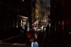 Windmill Street (sianlp) Tags: soho powercut london street carheadlights