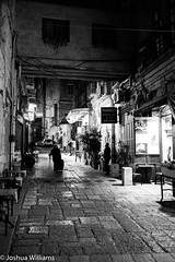 DSCF9652 (Joshua Williams' Photography) Tags: jerusalem israel bw night oldcity