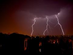 three strikes (peet-astn) Tags: weather lightning rain clouds city night spring 2016 3 three house threestrikes