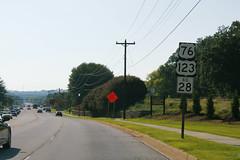 US76-US123-SC28signsRoad (formulanone) Tags: southcarolina us76 76 us123 123 sc28 28 sign signs