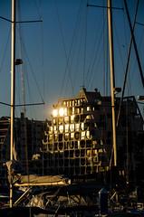 Golden Blue End of Day (NathalieSt) Tags: sunset reflection building buildings reflet immeuble coucherdesoleil immeubles
