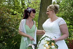 DSC_0367 (jameshowardphotography) Tags: flowers wedding white green bride woods dress whitby bridesmaid bouquet freen