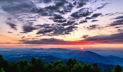 Saddle Overlook Sunrise 2 (Michael Kline) Tags: mountains clouds rural sunrise virginia va floyd blueridgeparkway