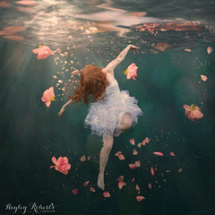 Rosewater (Hayley Roberts Photography) Tags: selfportrait photoshop underwater fineart levitation bubbles manipulation howto trickphotography compositing conceptualphotography girlinaglass learnphotography