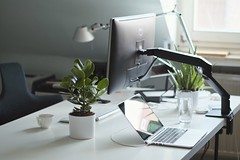 Home Office (Atilla Taskiran) Tags: plants mac fuji workspace setup tolomeo artemide thatsit stokke macbook