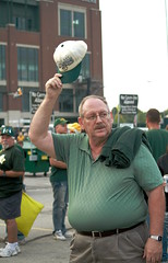 Greeting Par-Tay. (RICHARD OSTROM) Tags: game football gameday greenbay fans epic lambeau greenbaypackers wisconson 2015