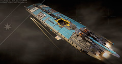 MAERSK HIGHLINER MkI REAR (Pierre E Fieschi) Tags: art ship lego pierre space spaceship concept spacecraft microspace 2015 maersk highliner fieschi microspacetopia pierree shiptember