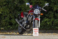 Honda Parking Only (Andy Tee) Tags: vintage honda four photography 4 racing motorbike poppy cylinder motorcycle vehicle inline beet exhaust appeal cb1 400cc cb400 nasasert