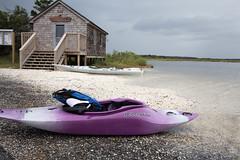 Stormy days at Assateague (sturner404) Tags: storm beach water kayak maryland hut sound assateague