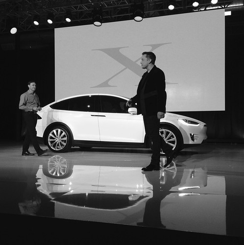 Receiving my Tesla Model X (VIN 2) from Elon Musk at the Launch Event, From FlickrPhotos