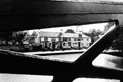 The Greyhound Pub at Sutton Stop (mattgilmartin) Tags: bw eat coventry narrowboat canalside greyhoundpub suttonstop