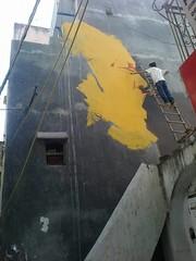 Nusrat Fateh Ali Khan painting On Wall By Nikunj Prajapati (Farooq Raz) Tags: street music art wall painting king artist god fateh ali khan sufi sufism nusrat qawwali nfak qawali