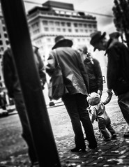 It's The Little Things (TMimages PDX) Tags: street city people urban children portland geotagged photography photo child image streetphotography explore photograph pedestrians softfocus streetcorner vignette everydaylife fineartphotography flickrexplore explored iphoneography