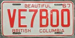 BRITISH COLUMBIA 1967 ---AMATEUR RADIO PLATE (woody1778a) Tags: britishcolumbia bc licenseplate numberplate registrationplate mycollection myhobby alpca1778 amateurradio 1967