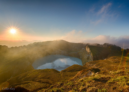 Sunrise over Mt. Kelimutu