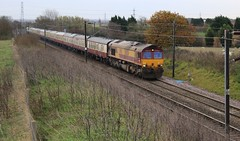 Weston (GBRf 66702) Tags: uk england canon eos flickr railway db railtour dslr nottinghamshire weston finsburypark midlands dbs notts eastcoastmainline schenker class66 ews ecml 0714 100d gooledocks dbschenker ukrailtours 1z25 66206 gallopinggoolie