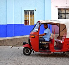 Day 227. San Pedro Tapanatepec is a gorgeous little town. The mountains surrounding it carry a steady breeze along its streets while putt-putts ferry passengers to their colorful homes and chestnut-haired women gossip in the town center. #theworldwalk #tr