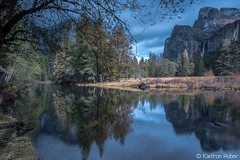 Yosemite National Park - Peaceful Moments - 1253 (www.karltonhuberphotography.com) Tags: california longexposure autumn trees light reflection fall water forest river still quiet details relaxing meadow peaceful yosemite serene yosemitenationalpark wilderness cloudcover tranquil valleyview yosemitevalley softlight mercedriver cathedralrocks bridalveilfall 2015 diffusedlight mirrorlike wildplaces leefilters horizontalimage leebigstopper karltonhuber nikond750