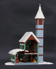 Winter Village Brewery (Pate-keetongu) Tags: city town pub lego moc brewey wintervillage