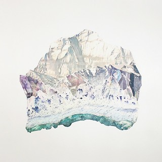 "Oriol Angrill Jordà — Charlotte (from ""Gems Stereoscope"" series) Contemporary Abstract Oriol Angrill Jordà Watercolor via Art of Darkness / art-of-darkness.tumblr.com"