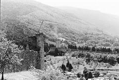 Assisi 07 (Ian Atrus Gazzotti  iangazzotti.com) Tags: blackandwhite bw castle monochrome analog 35mm nikon bn castello assisi rocca umbria biancoenero f70