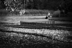 To Ponder Upon (Tomasz Jan) Tags: ponder park couple lake a57