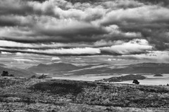 Loch Lomond (AdMaths) Tags: adammathesonphotography adammatheson lochlomondnationalpark lochlomond canon ixus ixus82is canonixus canonixus82is 82is compactcamera canoncompact compact benlomond johnmuirway johnmuir munro mountainbiking mountainbike cycling cycle mono monochrome blackwhite bw blackandwhite classic cloud