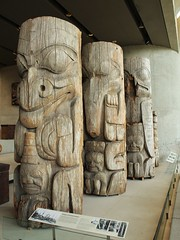 First Nations cavings - Vancouver (phil_king) Tags: american british canada carving columbia display first indian museum nation native pole sculpture totem ubc university wood art anthropology vancouver